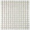 "EliteTile Morgan .75"" x .75"" Porcelain Mosaic Tile in White"
