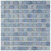 "EliteTile Geneva 1"" x 1"" Porcelain Mosaic Tile in Blue"