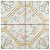 """EliteTile Tudor 13"""" x 13"""" Ceramic Field Tile in Multi Colored"""