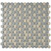 EliteTile Penny Porcelain Mosaic Tile in Gray and Cream