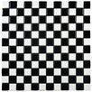 "EliteTile Derecha 1.25"" x 1.25"" Porcelain Mosaic Tile in Black and White"