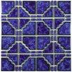 "EliteTile Kansai 11.75"" x 11.75"" Porcelain Mosaic Tile in Blue"