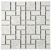 EliteTile Pallas Random Sized Porcelain Mosaic Tile in White