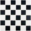 "EliteTile Arthur 2"" x 2"" Porcelain Mosaic Tile in Black and White"