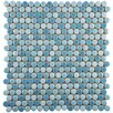 "EliteTile Tucana 0.59"" x 0.59"" Porcelain Mosaic Tile in Oceano"