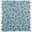 EliteTile Tucana Porcelain Mosaic Tile in Oceano
