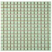 "EliteTile Morgan .75"" x .75"" Porcelain Mosaic Tile in Light Green"