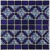 "EliteTile Jericho 12"" x 12.5"" Porcelain Mosaic Floor and Wall Tile in Cobalt Delta"