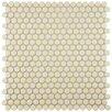EliteTile Astraea Porcelain Mosaic Tile in Almond