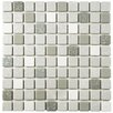 EliteTile Minerva Porcelain Mosaic Tile in Gray and White