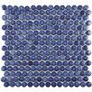 """EliteTile Penny 0.8"""" x 0.8"""" Porcelain Mosaic Tile in Sapphire"""