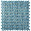 "EliteTile Tucana 0.59"" x 0.59"" Porcelain Mosaic Tile in Sky"