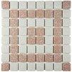 """EliteTile Minerva 1.3"""" x 1.3"""" Porcelain Mosaic Tile in Beige"""