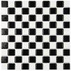 EliteTile Derecha Porcelain Mosaic Tile in Black and White