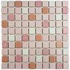 EliteTile Minerva Porcelain Mosaic Tile in Pink and White