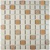 """EliteTile Minerva 1"""" x 1"""" Porcelain Mosaic Tile in Beige"""