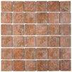"EliteTile Elbert 2"" x 2"" Porcelain Mosaic Tile in Quad Pueblo"