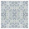 "EliteTile Lotus 17.75"" x 17.75"" Ceramic Floor and Wall Tile in Blue"