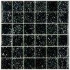 "EliteTile Entira 11.75"" x 11.75"" Glass Mosaic Wall Tile in Black"