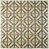 """EliteTile Jericho 12.5"""" x 12.5"""" Porcelain Mosaic Tile in Beige"""