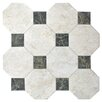 """EliteTile Opalo 17.75"""" x 17.75"""" Ceramic Floor and Wall Tile in White"""