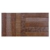 "EliteTile Loggo 20"" x 10"" Porcelain Mosaic Floor and Wall Tile in Brown"