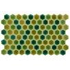 """EliteTile Genoa 9"""" x 5.5"""" Porcelain Field Tile in Green"""