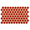 """EliteTile Genoa 9"""" x 5.5"""" Porcelain Floor and Wall Tile in Red"""