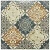 "EliteTile Traverti 17.75"" x 17.75"" Decor Ceramic Floor and Wall Tile in Gray"