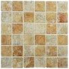 """EliteTile Elbert 12.5"""" x 12.5"""" Porcelain Mosaic Floor and Wall Tile in Brown"""
