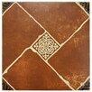 "EliteTile Toledo 17.75"" x 17.75"" Ceramic Floor and Wall Tile in Brown"