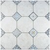 "EliteTile Lozoya 23.63"" x 23.63"" Ceramic Floor and Wall Tile in White"