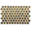 "EliteTile Genoa 9"" x 5.5"" Porcelain Metallic Floor and Wall Tile in Gold"
