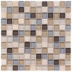 """EliteTile Sierra 0.875"""" x 0.875"""" Glass and Natural Stone Mosaic Tile in River"""