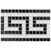 "EliteTile Sierra Greek Key 0.625"" x 0.625"" Glass Mosaic Tile in Black and White"