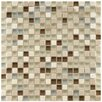 """EliteTile Sierra 0.625"""" x 0.625"""" Glass and Natural Stone Mosaic Tile in York"""