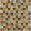 "EliteTile Sierra 0.875"" x 0.875"" Glass and Natural Stone Mosaic Tile in Brixton"
