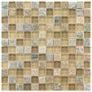 """EliteTile Sierra 11.625"""" x 11.625"""" Glass and Natural Stone Mosaic Tile in Suffolk"""