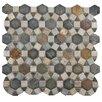 EliteTile Peak Random Sized Natural Stone Textured Mosaic in Multi