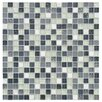 "EliteTile Sierra 0.625"" x 0.625"" Glass and Natural Stone Mosaic Tile in Alaskan View"