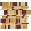 EliteTile Sierra Random Sized Glass Mosaic Tile in Magic Suede