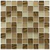 "EliteTile Neptunian 1.125"" x 1.125"" Glass Mosaic Tile in Nautilis"