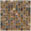 "EliteTile Abbey 0.875"" x 0.875"" Glass, Stone and Metal Mosaic Tile in Alloy Copper"