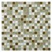 EliteTile Commix Glass and Aluminum Mosaic Tile in Lorraine