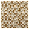 "EliteTile Sierra 0.625"" x 0.625"" Glass and Natural Stone Mosaic Tile in Breno"