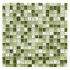 "EliteTile Sierra 0.625"" x 0.625"" Glass and Natural Stone Mosaic Tile in Emerald Isle"