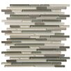 """EliteTile Sierra 11.75"""" x 11.75"""" Glass and Natural Stone Mosaic Tile in Plateau"""