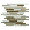 "EliteTile Commix 11.875"" x 12.125"" Glass and Aluminum Mosaic Tile in Lorraine"