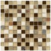"EliteTile Sierra 0.875"" x 0.875"" Glass and Natural Stone Mosaic Tile in Nassau"