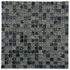 """EliteTile Sierra 0.625"""" x 0.625"""" Glass and Natural Stone Mosaic Tile in Dusk"""